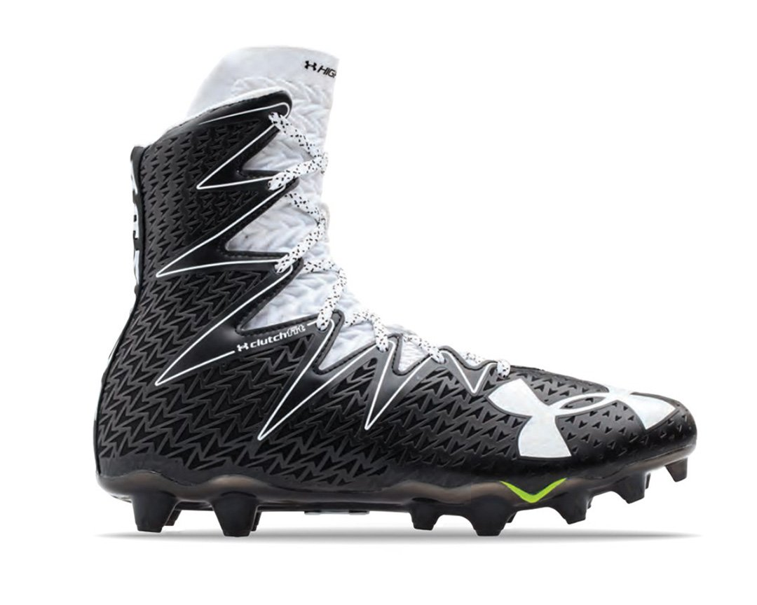 Under Armour Men's Highlight MC Football Cleat, Black/White, 12.5 M US by Under Armour