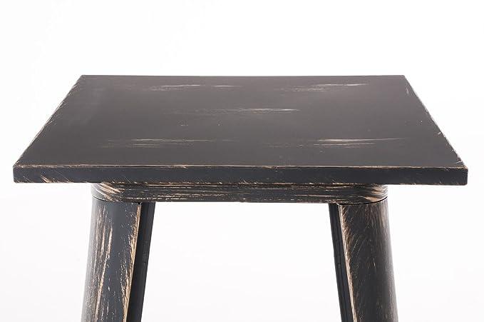 CLP Bartisch LOGAN aus pflegeleichtem Metall I Stehtisch mit Fu/ßst/ütze I In verschiedenen Farben erh/ältlich schwarz-gold