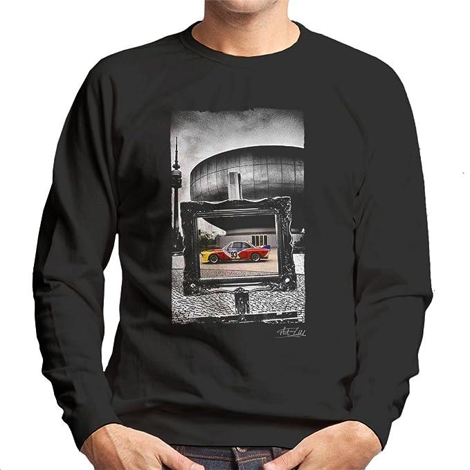 Martyn Goddard Official Photography - BMW Art Car Calder Black Frame Mens Sweatshirt