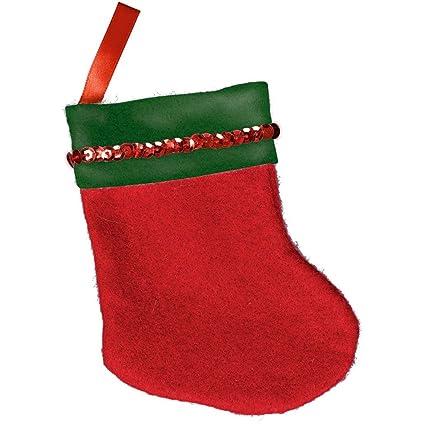 aec08936d51 Amazon.com  Red Mini Santa Felt Stocking
