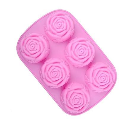 Spaufu Moldes Silicona Horno Magdalenas para Pastel Fondant Resistente al Calor para Hornear Diy para Torta