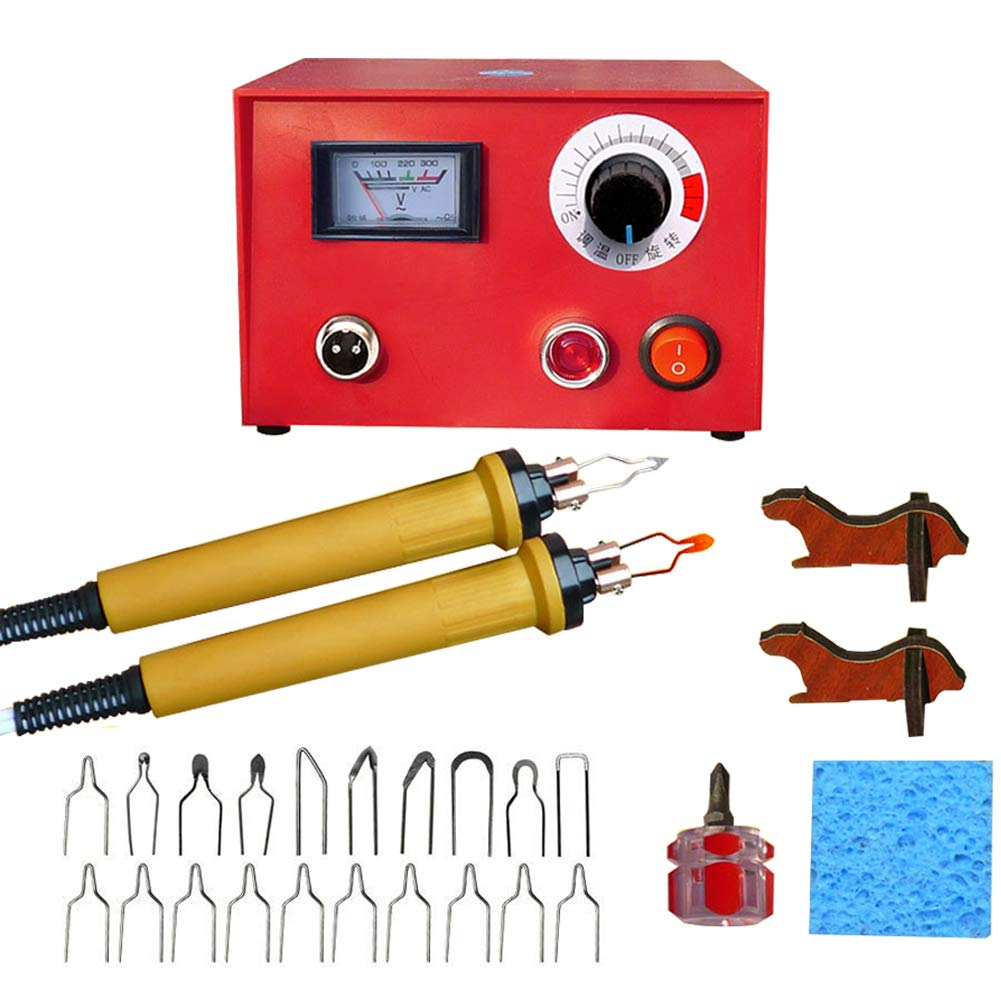 Wood Burning Machine Kit 50W Pyrography Machine Digital Temperature Adjustable Wood-Burner Tool Kit for for Wood/Leather/Gourd/Bamboo by GOLDEN ELEPHANT