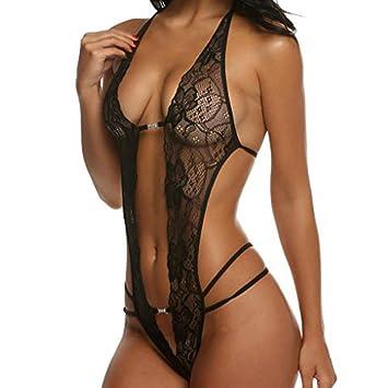 Lenceria Mujer Erotica,❤ Modaworld Panties Sexy Lace Underwear Body Una Pieza Picardías Lencería