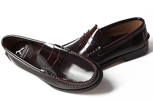 Mocasín Castellano de Piel para Hombre (46, Burdeos): Amazon.es: Zapatos y complementos