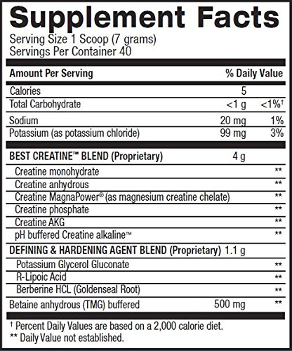 BPI Sports Best Creatine Defined Lean Muscle Hardening Agent, Sour Candy, 40 Count