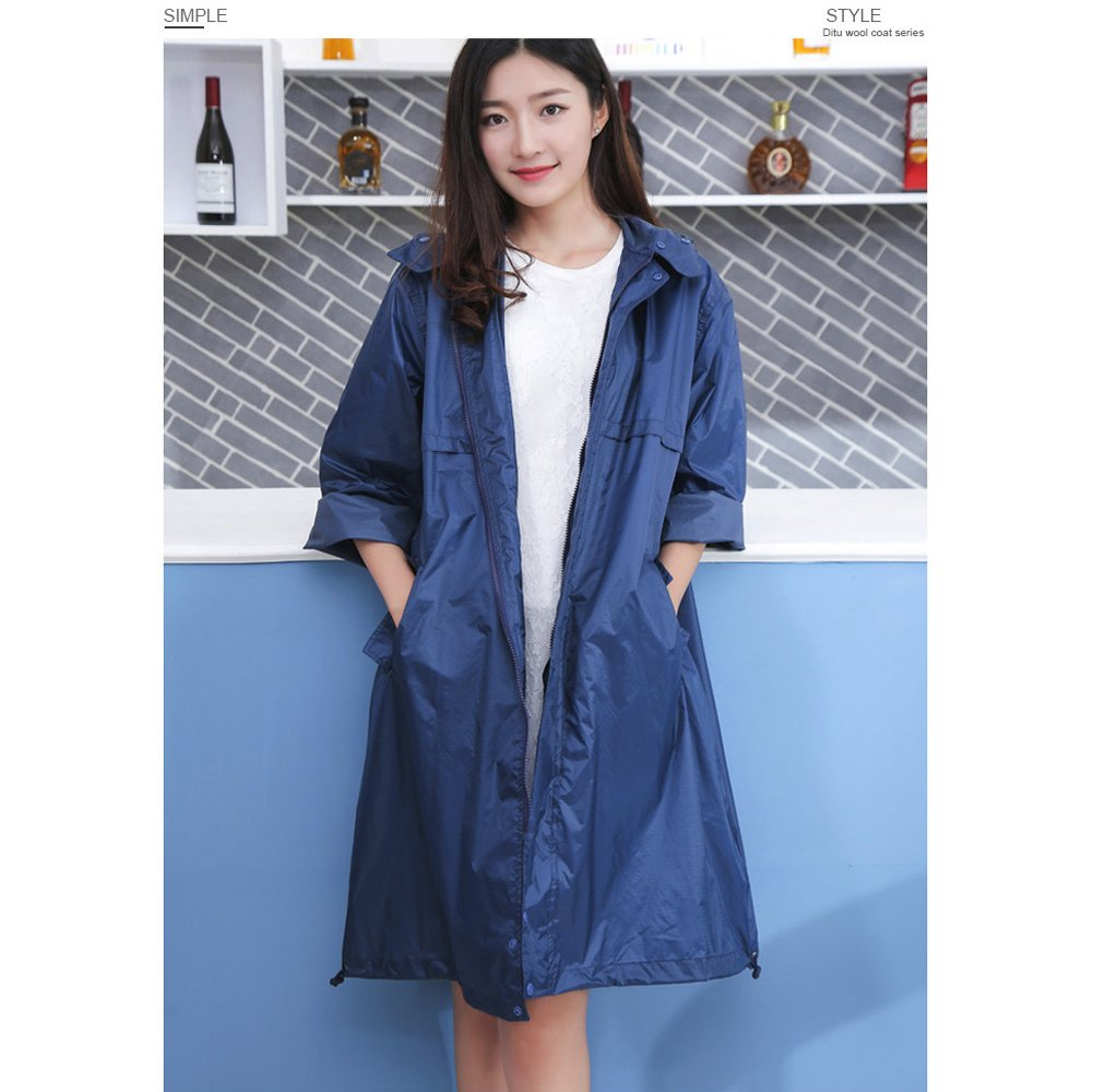 1 Raincoat Adult XL Long Waterproof Trench Coat Breathable Fashion Trekking Thin Poncho Portable