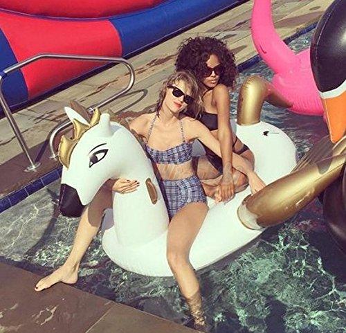Erwachsenen aufblasbare Super Pegasus Pferd Schwimmer-Bett schwimmenden Zeile schwimmen ring