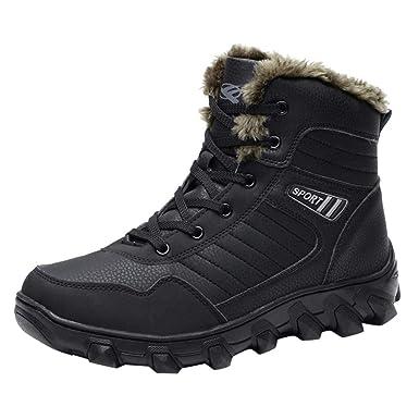 c2781807ff8de Amazon.com: YANG-YI Snow Boots for Men Casual Winter High-Top Plus ...