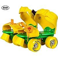 BDMP Sterling Adjustable Roller Skates for Kids Junior Girls Boys Outdoor Sports Games Adjustable Size 16 CMT. to 21 CMT (Yellow)