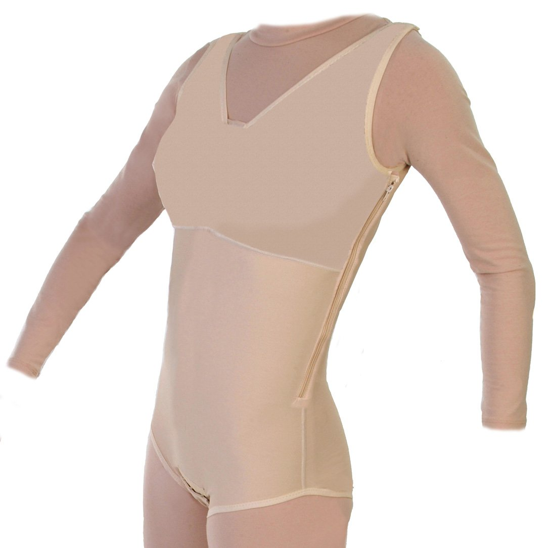 Compression Body Shaper Brief with Side Zipper Closed Crotch : Style 32Z | ContourMD (Small)