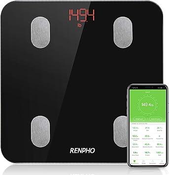 Bluetooth Personenwaage mit APP RENPHO Körperfettwaage Smart digitale Waage fü