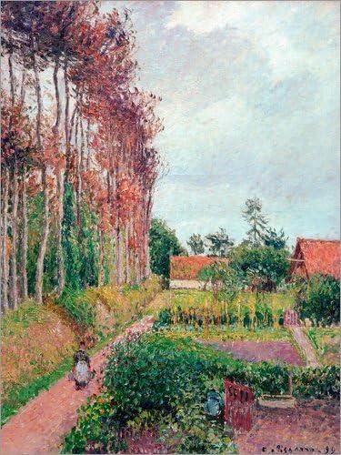 Lienzo 70 x 90 cm: Farm of Auberge Ango de Camille Pissarro/akg-Images - Cuadro Terminado, Cuadro sobre Bastidor, lámina terminada sobre Lienzo auténtico, impresión en Lienzo