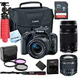 Canon SL2 Digital SLR Camera Kit with EF-S 18-55mm and EF 75-300mm Zoom Lenses (Black) with Free SanDisk Ultra 32GB SDHC Card