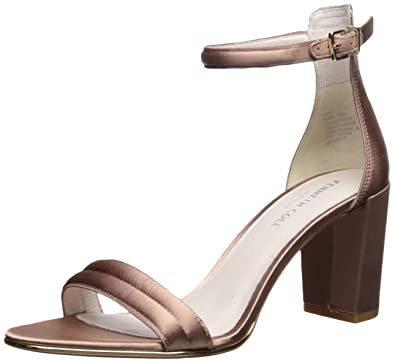 Kenneth Cole New York Womens Lex Leather Open Toe Ankle Nude Leather Size 9.5