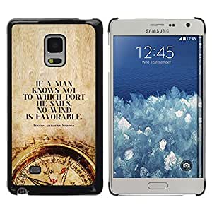 Be Good Phone Accessory // Dura Cáscara cubierta Protectora Caso Carcasa Funda de Protección para Samsung Galaxy Mega 5.8 9150 9152 // time man smart deep compass quote