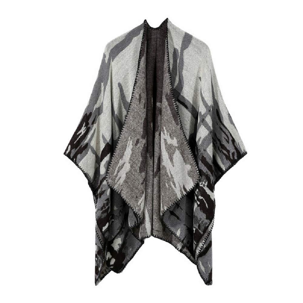 Excellent Women's Fall Winter Scarf Cloak Tassel Cape Mantle Scarf Quick Flabby Kerchief Wrap Shawl Scarves (Color : Black, Size : 51.1 x 59.06 Inch')