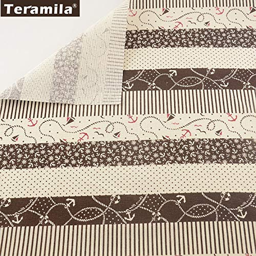 Material de Costura Tissuhome Tela de Lino y algodón para ...