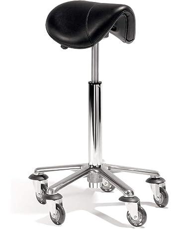 Grandma Shark Chrome Gas Lift Massage Stool Beauty Therapy Reiki Height Adjustable Salon Swivel Manicure Tattoo-Stools Stuhl Portable Massage Table Chair