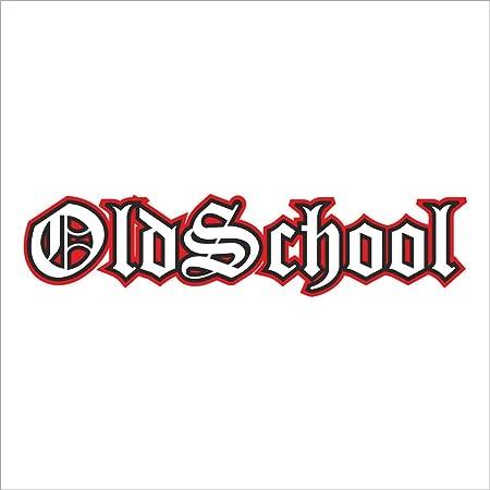 Easydruck24de Sticker Oldschool Xl Schwarz Rot I Kfz 033 I 20 X 4 Cm