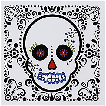 Amazon 3drose day of the dead skull pink purple black 3drose day of the dead skull da de los muertos sugar skull red black scroll design m4hsunfo