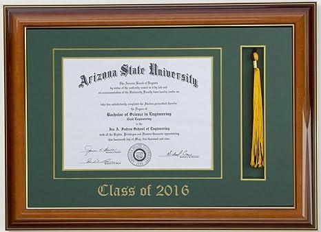 amazoncom diploma tassel frame 11x85 mahogany 2017 customizable document frames everything else