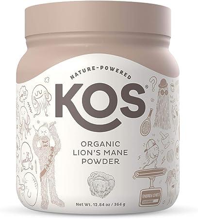 KOS Organic Lions Mane Powder - Lion's Mane Mushroom Powder - Natural Nootropic, Supports Memory & Focus, Immunity Booster - Potent Mushroom Supplement - 12.84 oz.