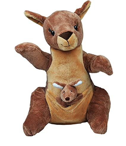 68a492fc2c0 Amazon.com  15 Inch Recordable Voice Kangaroo with Baby Joey  Toys ...