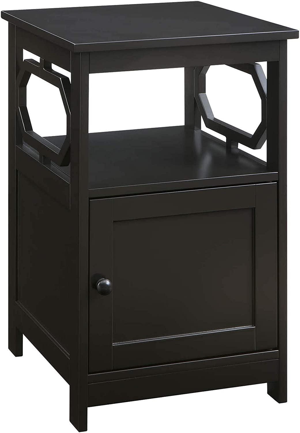 Convenience Concepts Omega End Table with Cabinet, Espresso