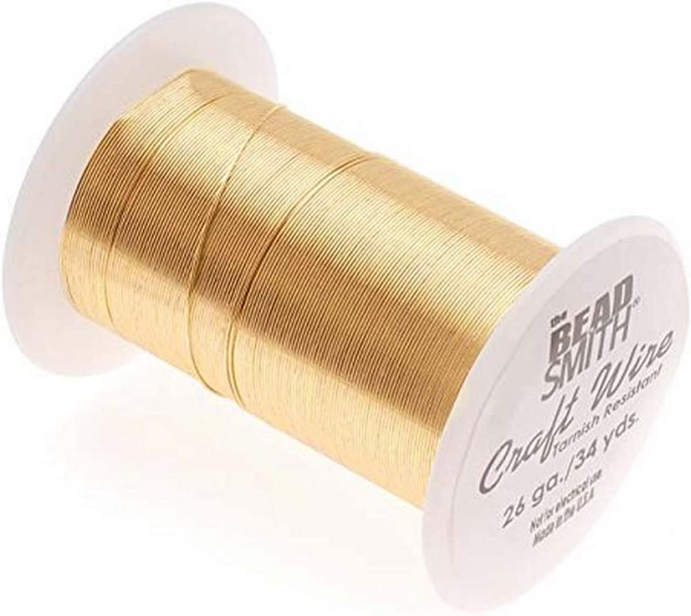BeadSmith WNT-2630 Tarnish Resistant Silver Color Copper Wire 26 Gauge//34 Yard