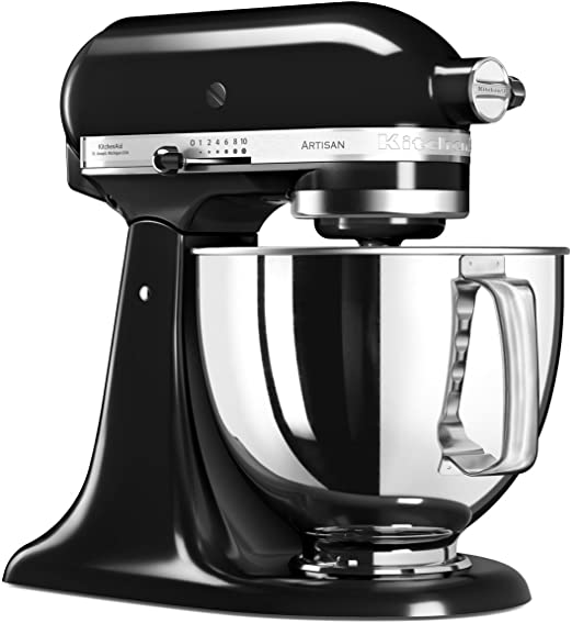 KitchenAid 5KSM125EOB 5KSM125EOB-Robot de Cocina, tazón de 4 L, Color Negro, 300 W, 4.8 litros, 1 Decibelios, Onyxschwarz: Amazon.es: Hogar
