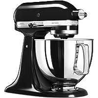 KitchenAid 5KSM125EOB 5KSM125EOB-Robot de Cocina, tazón de 4 L, Color Negro, 300 W, 4.8 litros, 1 Decibelios, Onyxschwarz