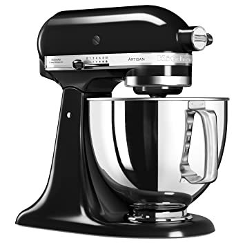KitchenAid 5KSM125EOB 5KSM125EOB-Robot de Cocina, tazón de 4 L, Color Negro, 300 W, 4.8 litros, 1 Decibeles, Onyxschwarz: Amazon.es: Hogar
