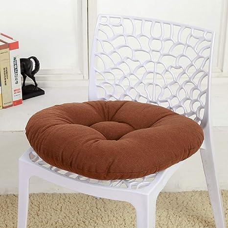 Amazon.com: Cojín redondo de color sólido para silla de ...