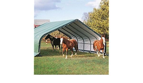 Shelter Logic 22 x 20 portátil Run en cobertizo - Portátil refugios - jardín almacenamiento: Amazon.es: Jardín