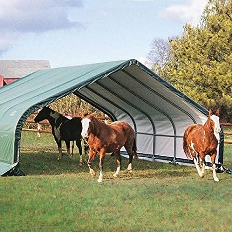 Shelter Logic 22 x 20 portátil Run en cobertizo – Portátil refugios – jardín