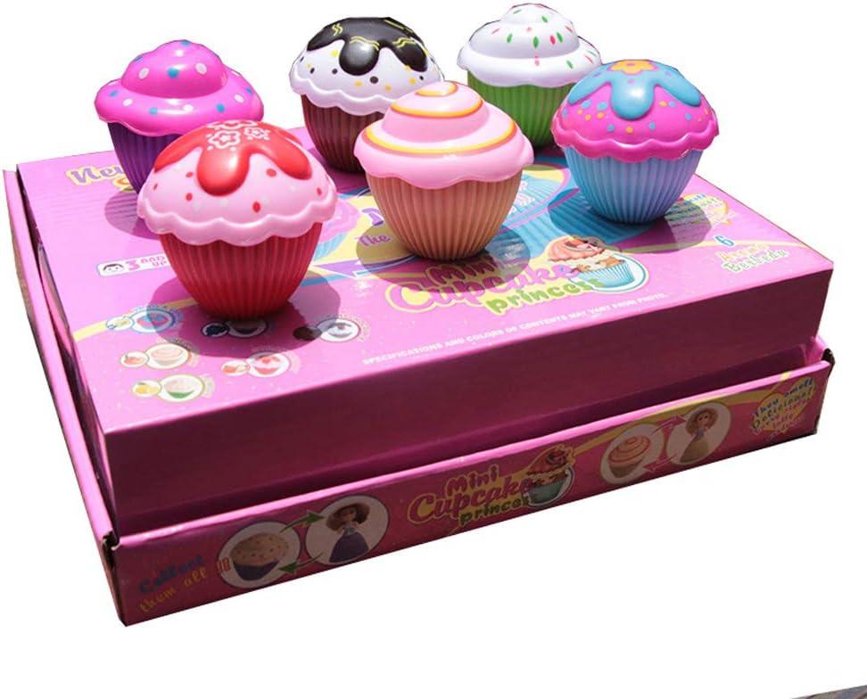 lijun Cartoon Lovely Cupcake Princess Doll Transformado Pastel Perfumado Mu/ñeca Juguete Ni/ñas Juguetes para beb/és