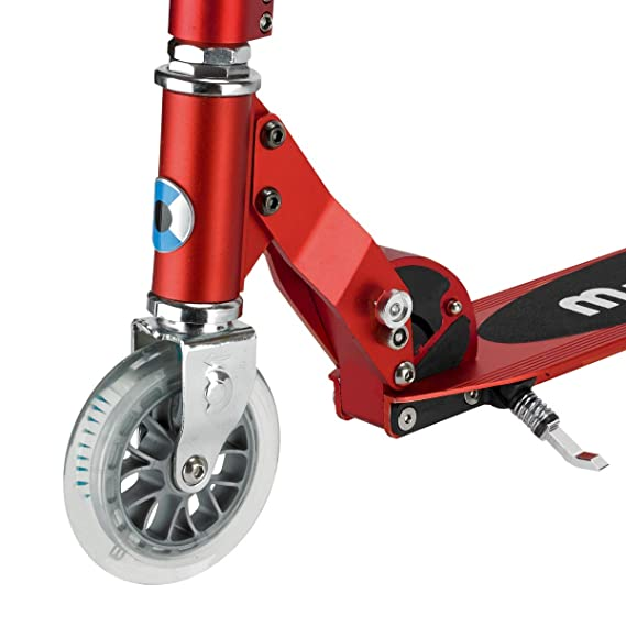 Micro Sprite, Scooter Urbano, Patinete Clásico 2 Ruedas (Rojo)