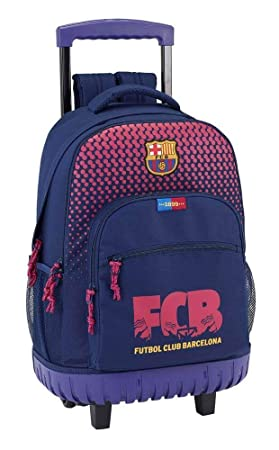 Safta Mochila Escolar Grande Con Ruedas F.C. Barcelona Corporativa Oficial 320x140x460mm: Amazon.es: Equipaje