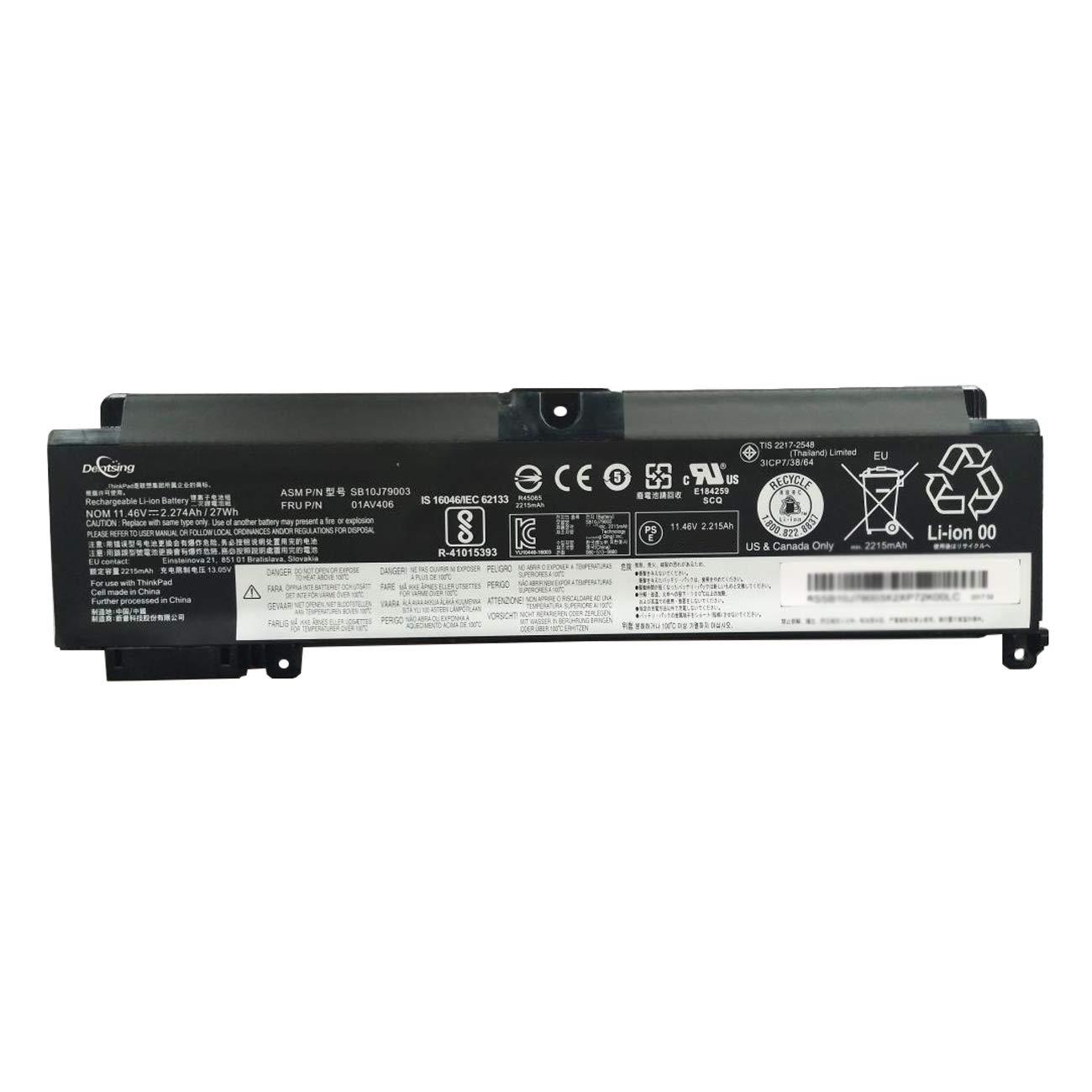 Bateria 11.46V27Wh/2274mAh 01AV406 Compatiblewith LenovoT