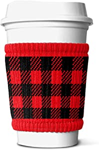 FREAKER Slippy Recycled Bottle Can Beverage Insulator, Save the Ocean, Eddie Red Plaid