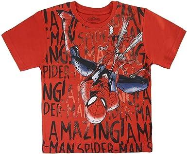 Spiderman S0713677 Camiseta, Rojo, 4 años Unisex niños: Amazon.es: Ropa y accesorios