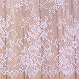 3 Yards French Eyelash Lace Fabric Floral