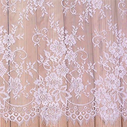 3 Yards French Eyelash Lace Fabric Floral
