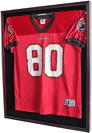 XX Large Football/Hockey Uniform Jersey Display Case Frame, UV Protection Ultra Clear, Locks