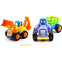 FunBlast Unbreakable Automobile Car Toy Set- Push and Go Crawling Toy, Toy Car for Kids and Children, Vehicle Toy Set. (Unbreakable Set of 2/2)