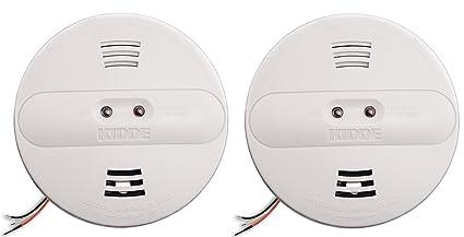 Kidde pi2010 Hardwired Dual ionización y sensor fotoeléctrico de humo alarma con respaldo de batería