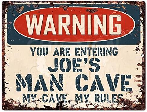 Méfiez-vous Genius at Work-Vintage metal signGaming décor pour chambre à coucherMan Cave