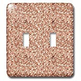 3dRose Uta Naumann Faux Glitter Pattern - Image of Sparkling Skin Rose Blush Pink Luxury Elegant Mermaid Glitter - Light Switch Covers - double toggle switch (lsp_274955_2)