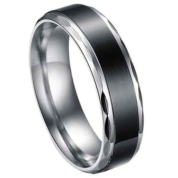 37 opinioni per JewelryWe Gioielli nero acciaio inossidabile Vintage Amore Coppia matrimonio