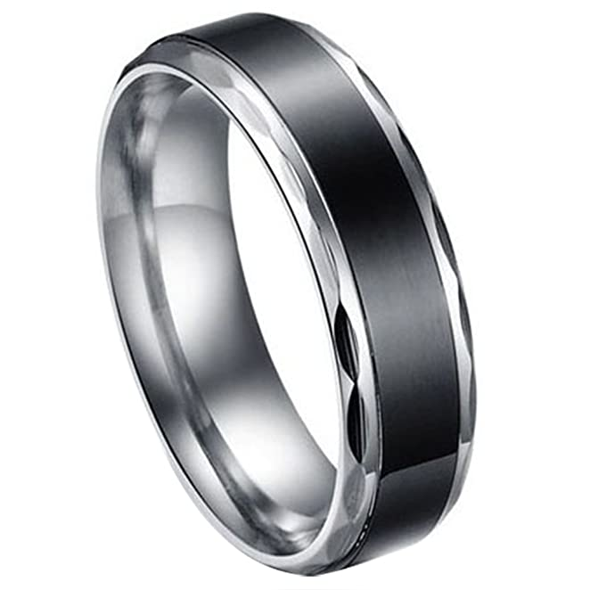 38 opinioni per JewelryWe Gioielli nero acciaio inossidabile Vintage Amore Coppia matrimonio